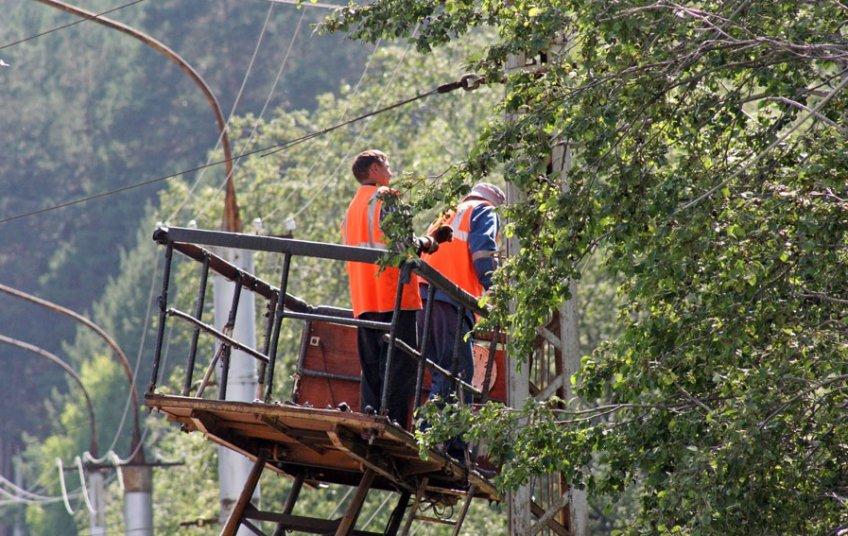 Около 200 человек восстанавливают контактную сеть электротранспорта в столице России после ураганного ветра