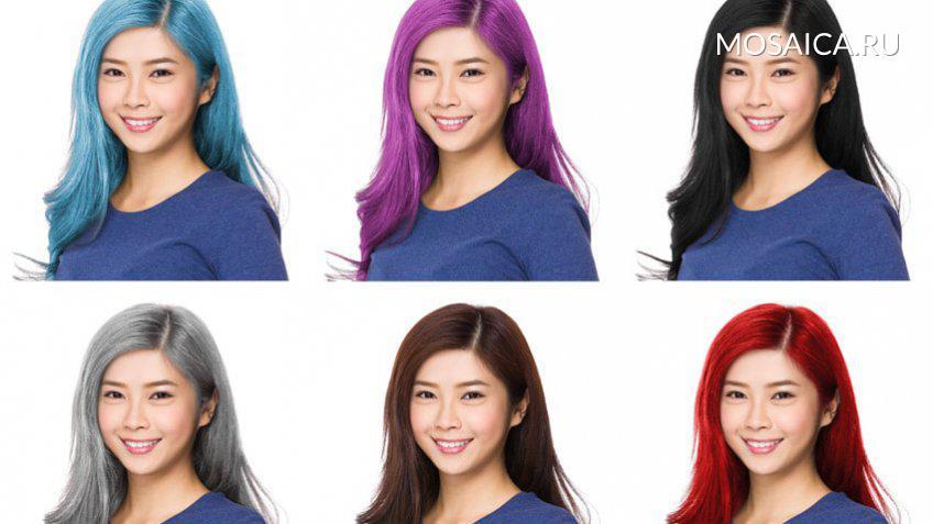 Смена цвета волос онлайн приложение