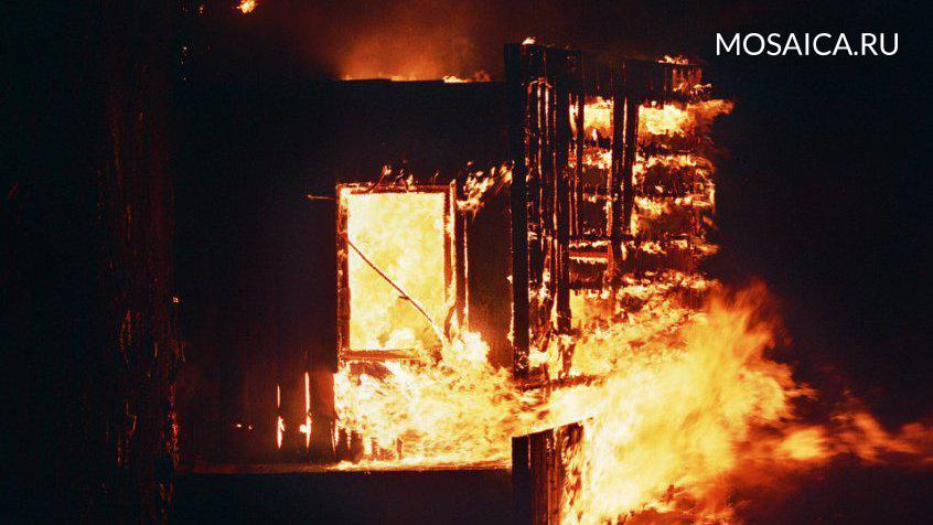 Под Ульяновском произошёл серьёзный пожар, умер один человек