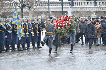 Воробьёв возложил цветы кМогиле Неизвестного бойца в российской столице