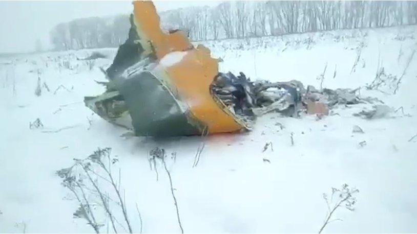 Стаявший снег обнажил останки жертв наместе крушения Ан-148