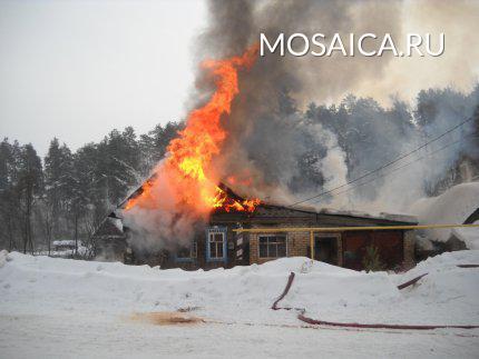 ВБарышском районе зажегся дом