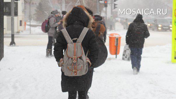 Школьники с1 по9 классы могут остаться дома из-за морозов