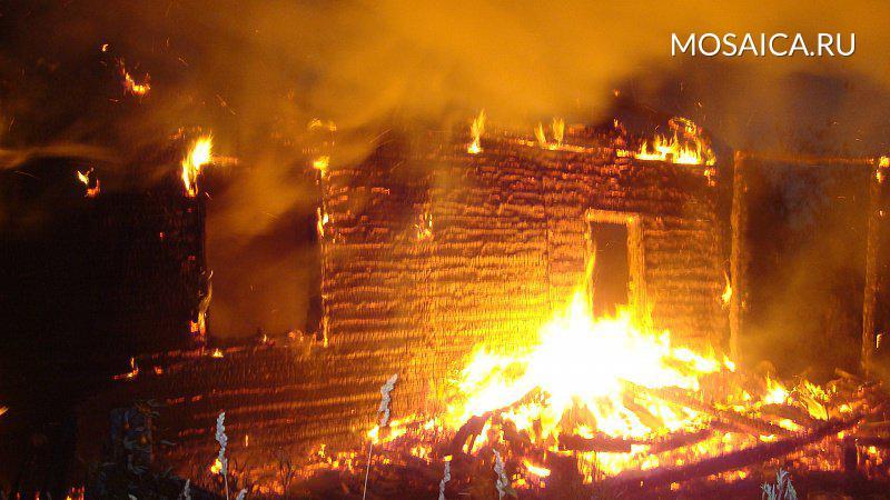 ВБарышском районе впожаре умер хозяин дома