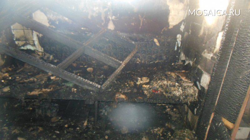Вбесхозном помещении вНовоспасском районе чуть несгорел человек
