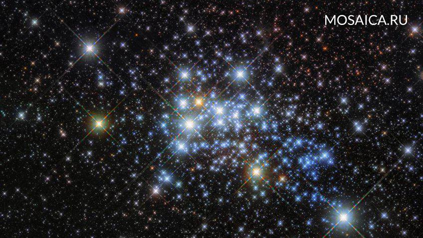 NASA опубликовало фото скопления самых уникальных звезд-гипергигантов