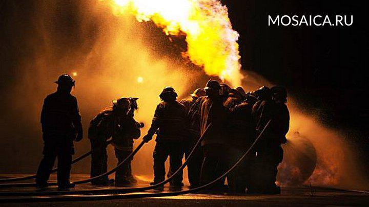ВУльяновске сварщики устроили пожар настройке