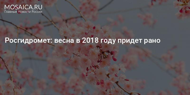 Когда в этом году придет весна 2018