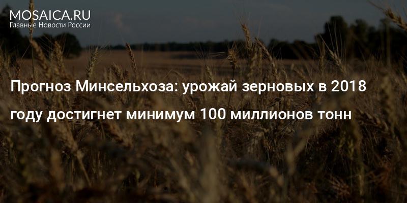 Минсельхоз дает неутешительный прогноз на урожай-2018